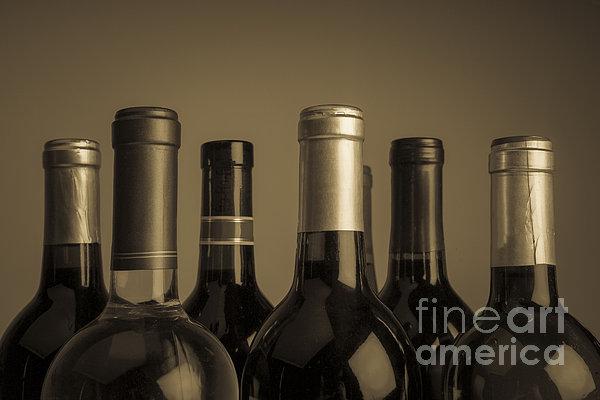 Wine Bottles Print by Diane Diederich
