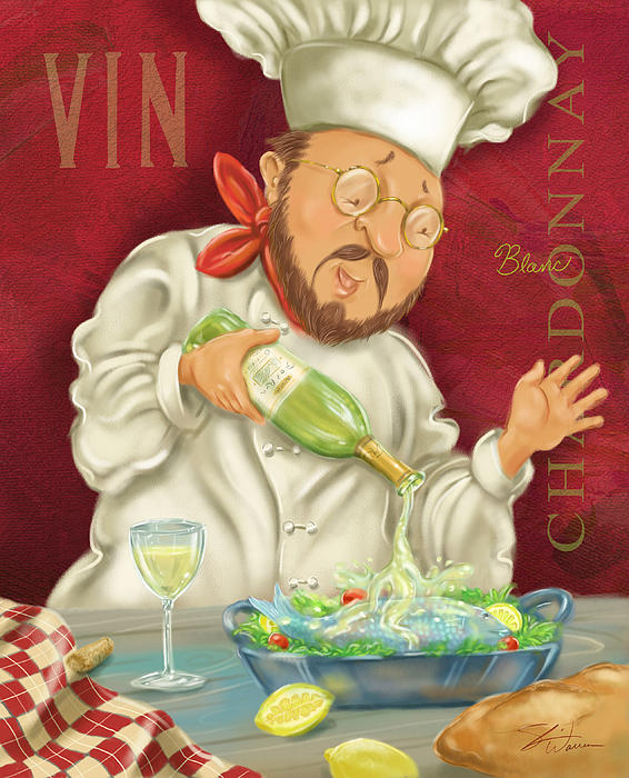 Wine Chef IIi Print by Shari Warren