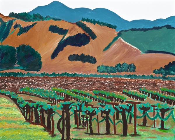 Wine Country  Print by Kathleen Fitzpatrick