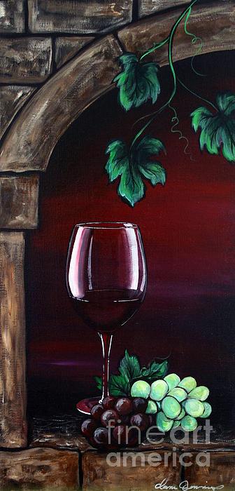Red Wine Sunset Print by Danise Abbott