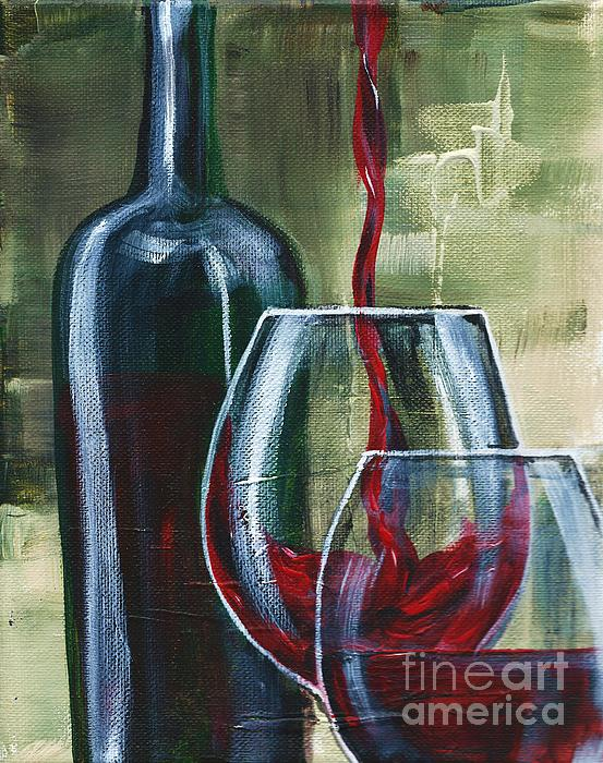 Wine For Two Print by Lisa Owen-Lynch