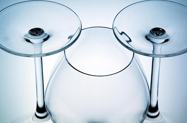 Wine Glasses 6 Print by Rebecca Cozart