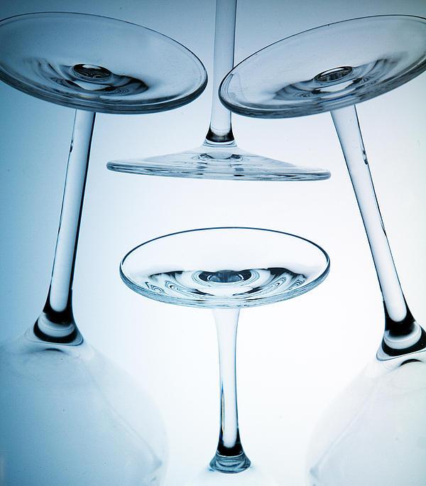 Wine Glasses 8 Print by Rebecca Cozart