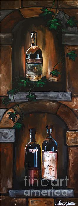 Wine Trio Print by Danise Abbott
