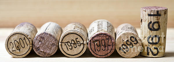 Wine Vintages Print by Frank Tschakert