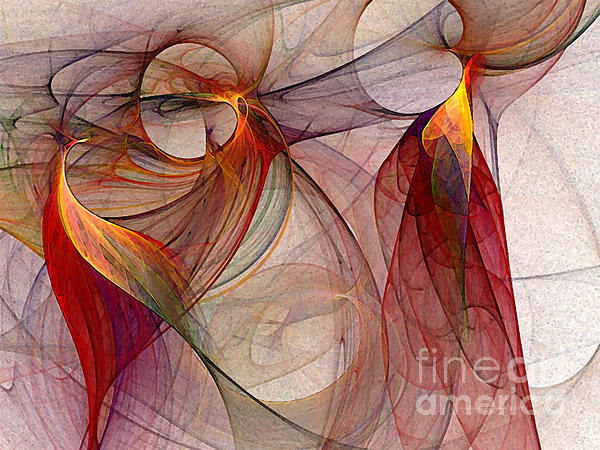 Winged-abstract Art Print by Karin Kuhlmann