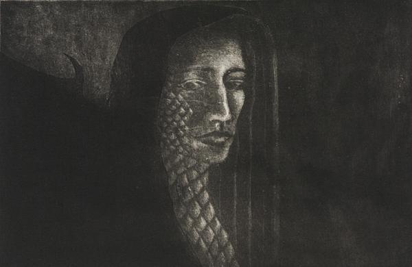Winged Medusa Print by Pati Hays