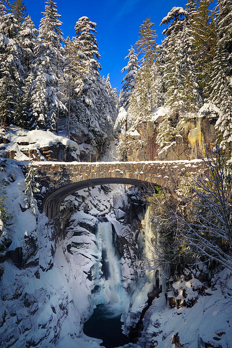 Inge Johnsson - Winter at Christine Falls