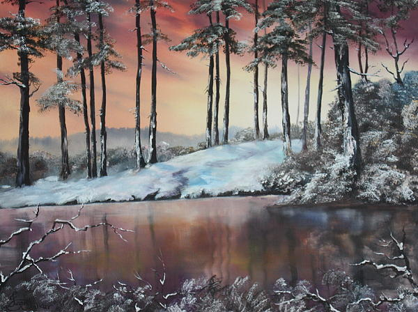 Jean Walker - Winter at Fairoak Pool Cannock Chase