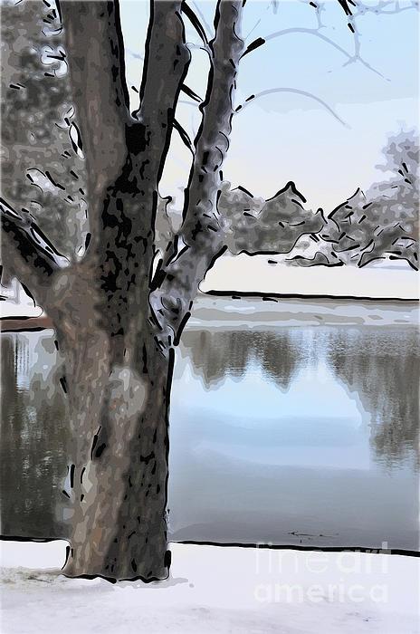 Winter Beauty Print by Betty LaRue