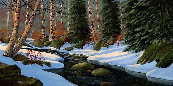 Winter Brook Print by Frank Wilson