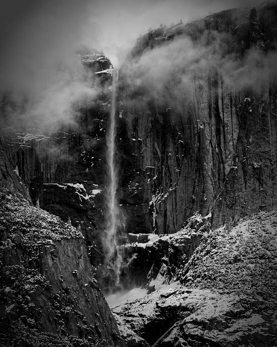 Winter Day Upper Yosemite Falls Ca Print by Troy Montemayor