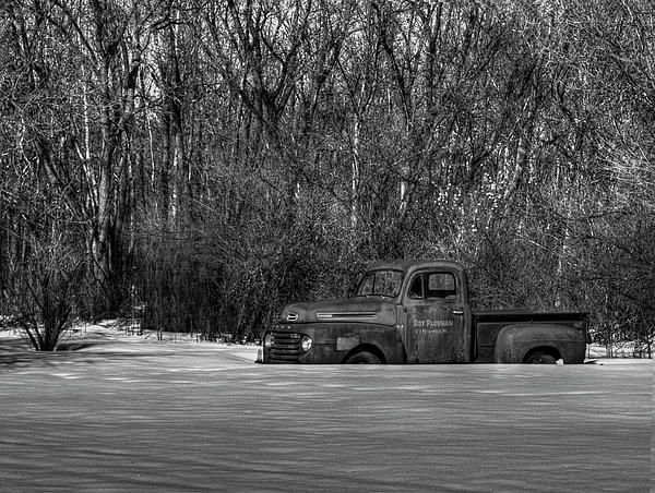 Winter Ford Truck 1 Print by Thomas Young