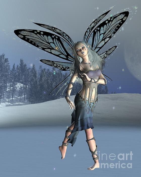 Winter Frost Fairy Print by Fairy Fantasies