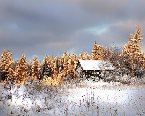 Winter Glow Print by Doug Fredericks