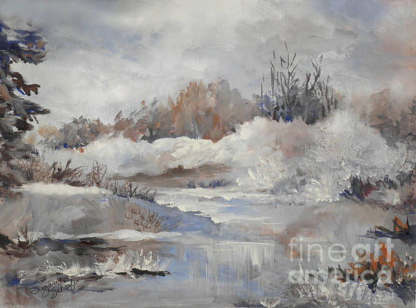Winter Impressions Print by Suzanne Schaefer
