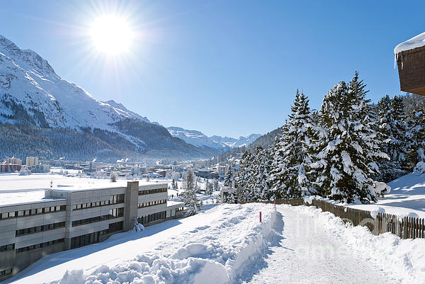 Winter In St. Moritz Print by Design Windmill