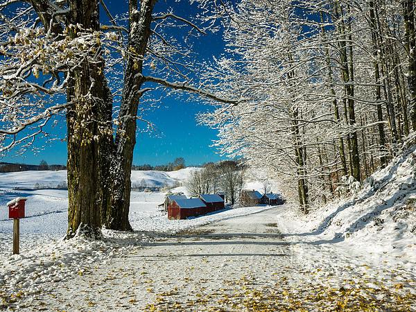Winter In Vermont Print by Edward Fielding