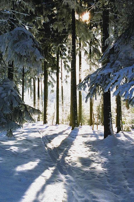 Winter Landscape Print by Aged Pixel