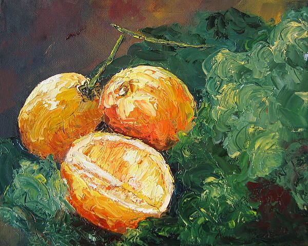 Winter Meyer Lemons And Kale Print by Susan Richardson