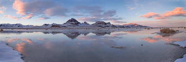 Winter Salt Flats Print by Chad Dutson
