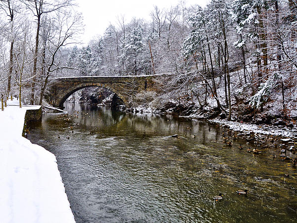 Winter Scene At Valley Green Print by Bill Cannon