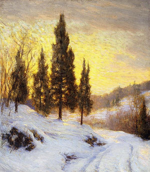 Winter Sundown Print by Walter Launt Palmer