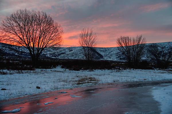 Winter Sunrise Print by Chad Dutson