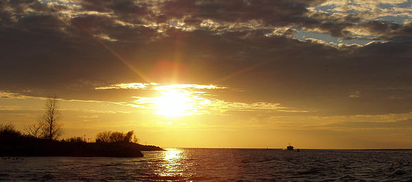 John Telfer - Winter Sunset over Long Island