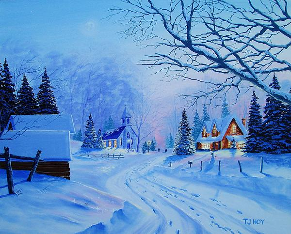 Tom Hoy - Winter Village Country Church
