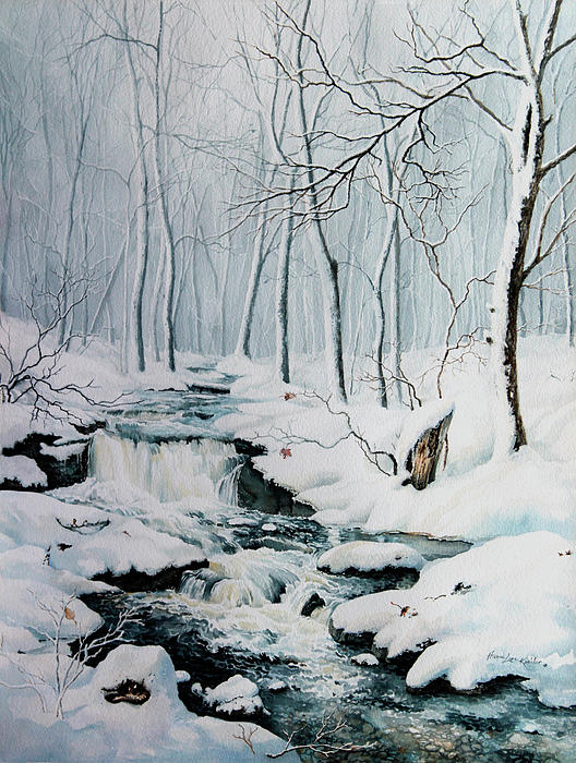 Winter Whispers Print by Hanne Lore Koehler