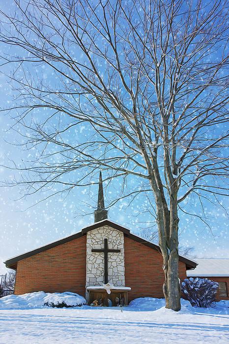 Winter Worship Print by Bill Tiepelman