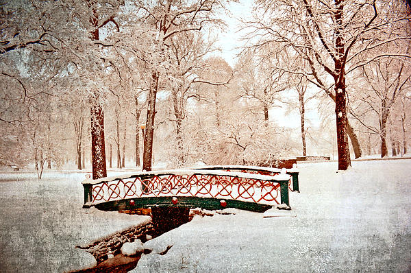 Winter's Bridge Print by Marty Koch