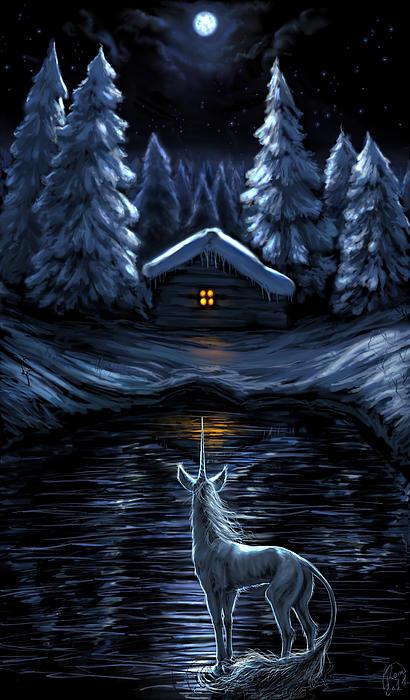 Winter's Chill Print by Katerina Romanova