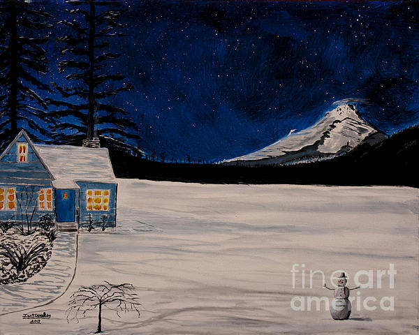 Winter's Eve Print by Ian Donley