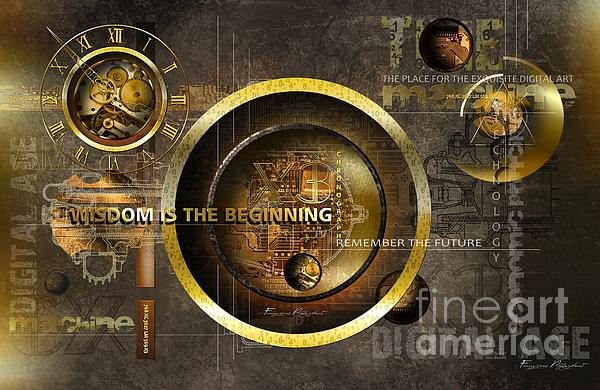 Wisdom Is The Beginning Print by Franziskus Pfleghart