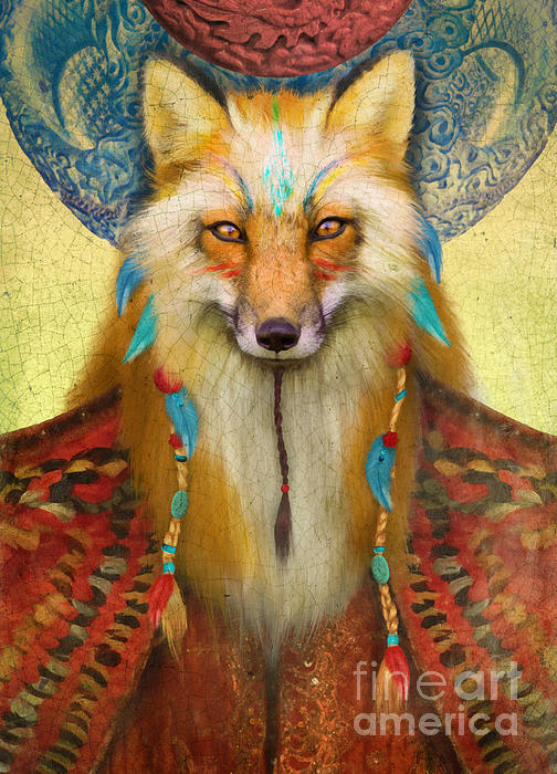 Wise Fox Print by Aimee Stewart