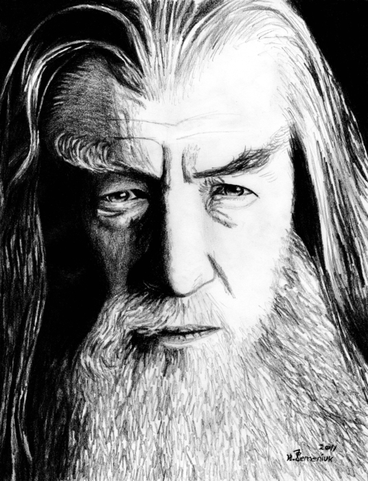 Wise Wizard Print by Kayleigh Semeniuk