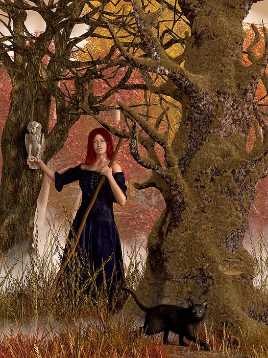 Witch Of The Autumn Forest  Print by Daniel Eskridge