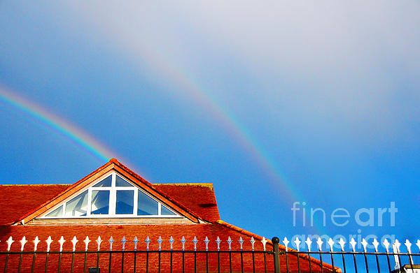 With Double Bless Of Rainbow Print by Jenny Rainbow