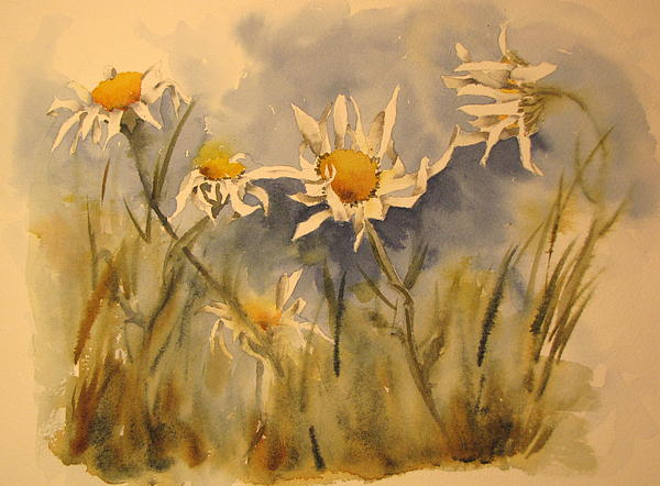Withering Daisy's Print by Ramona Kraemer-Dobson