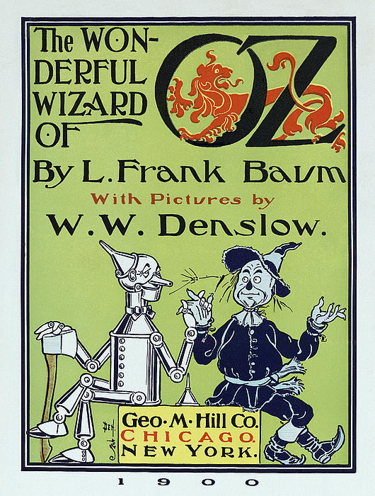 Wizard Of Oz Book Cover  1900 Print by Daniel Hagerman