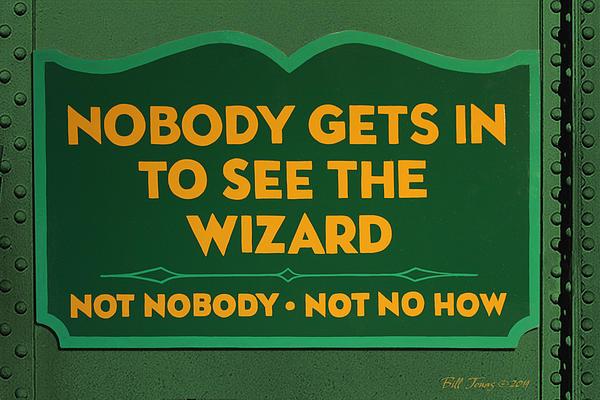 Wizard Sign Print by Bill Jonas