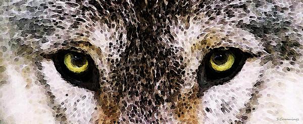 Wolf Eyes Print by Sharon Cummings