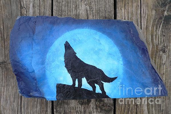 Wolf Howl2 Print by Monika Dickson-Shepherdson