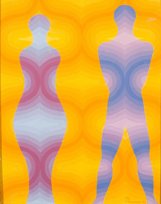 Woman And Man Print by Emil Parrag