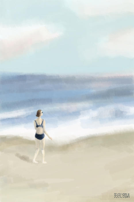 Woman By The Sea Print by Beverly Brown Prints