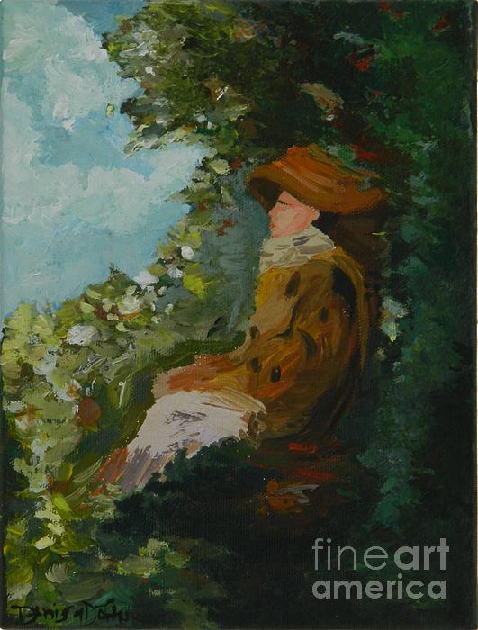Woman In Garden Print by Denisa Laura Doltu