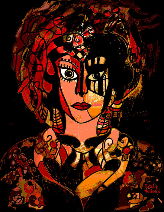 Woman Of Mystery Print by Natalie Holland