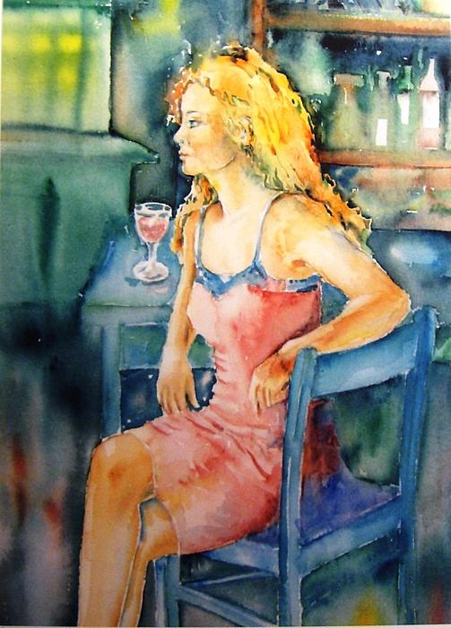 Woman Waiting  Print by Trudi Doyle
